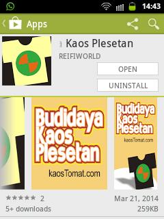 app Kaos Plesetan di Android